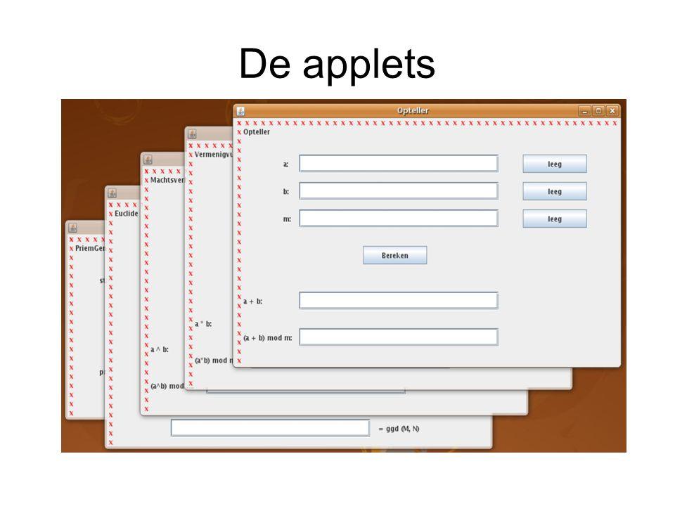 Lineair systeem Bij de encryptiefunctie is de decryptiefunctie van de vorm Niet alle getallen zijn bruikbaar als sleutelwaarde Uit de sleutelwaarde is effectief de decryptiefunctie af te leiden