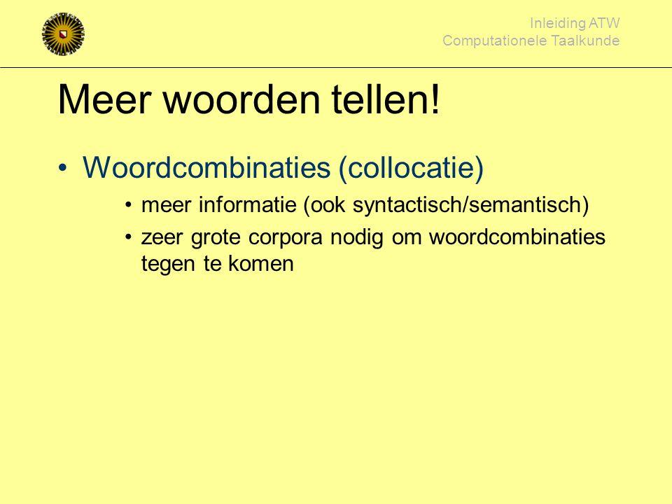 Inleiding ATW Computationele Taalkunde Attackogram (interruptie overzicht) Political Mashup project (Maarten Marx / Rianne Kaptein) Algemene beschouwi