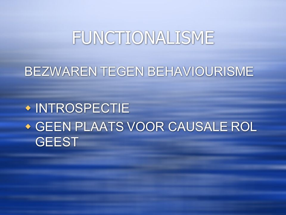 FUNCTIONALISME HILARY PUTNAM THE NATURE OF MENTAL STATES (1967)