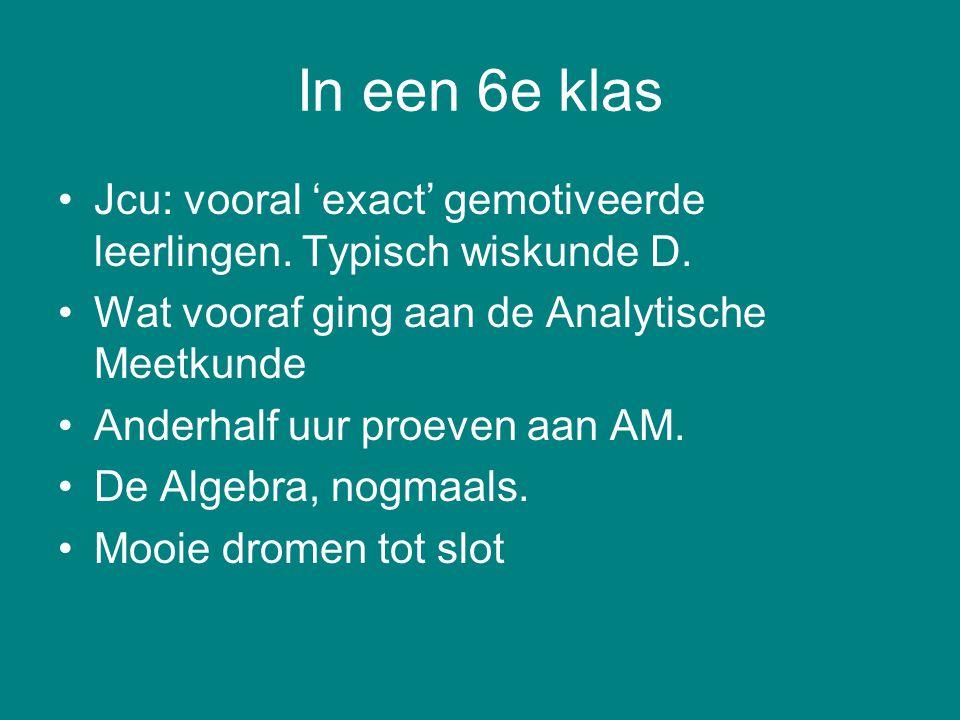 Analytisch-algebraisch (Descartes) [4, 1] Werk vanuit de oplossing achteruit Vertaal naar vergelijkingen Los die op (DAARNA: constructie en bewijs).