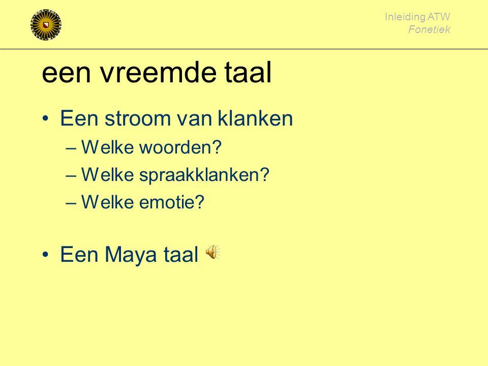 Inleiding ATW Fonetiek voor het Engels NL: [a] (paal) versus [ ɑ] (pal), [y] (uur), [χ] (gas)