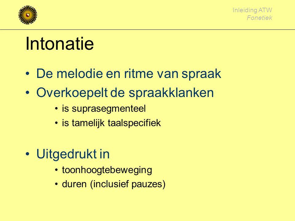 Inleiding ATW Fonetiek Articulatieplaats Engelse medeklinkers + NL x ɣ R (uvulair) Welke klanken zijn stemhebbend, welke stemloos?