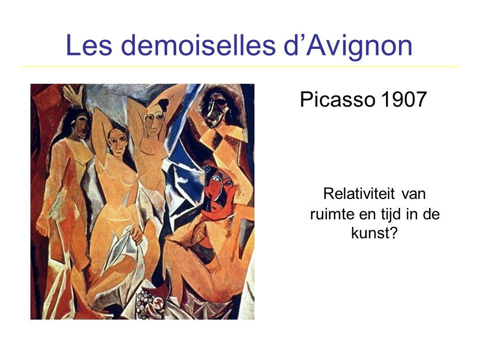 Les demoiselles d'Avignon Picasso 1907 Relativiteit van ruimte en tijd in de kunst?