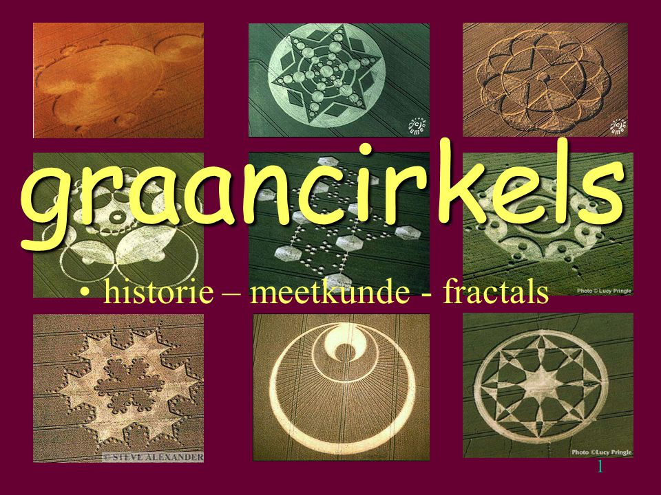 1 graancirkels historie – meetkunde - fractals