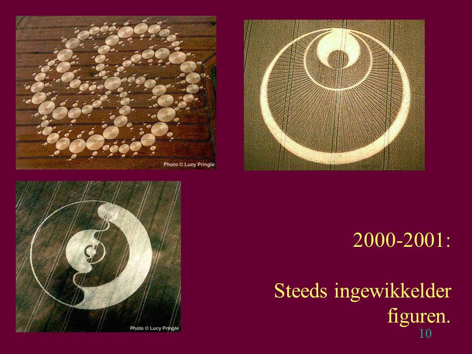 10 2000-2001: Steeds ingewikkelder figuren.