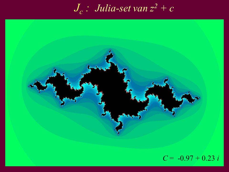 37 C = -0.97 + 0.23 i J c : Julia-set van z 2 + c