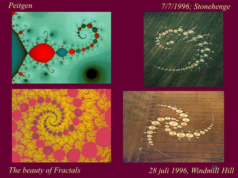 48 7/7/1996; Stonehenge Peitgen The beauty of Fractals 28 juli 1996, Windmill Hill