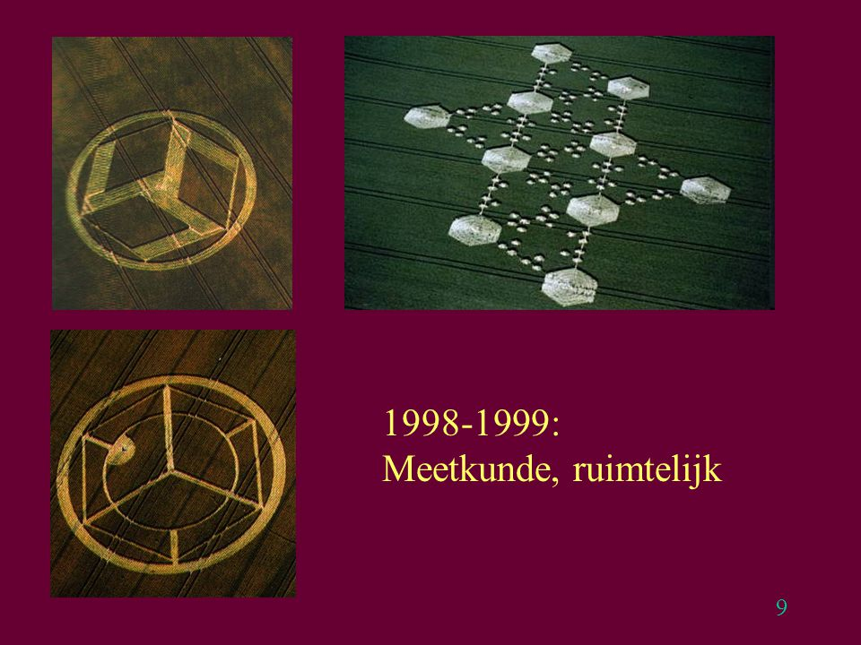 9 1998-1999: Meetkunde, ruimtelijk