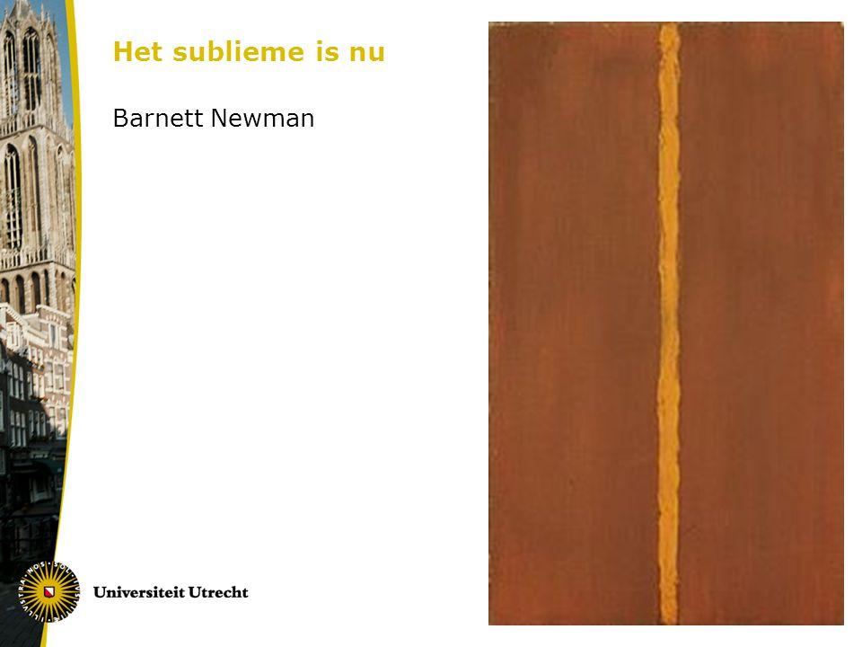 Het sublieme is nu Barnett Newman