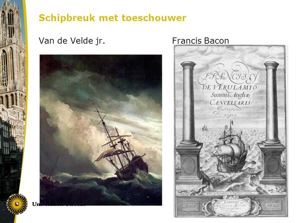 Schipbreuk met toeschouwer Van de Velde jr. Francis Bacon