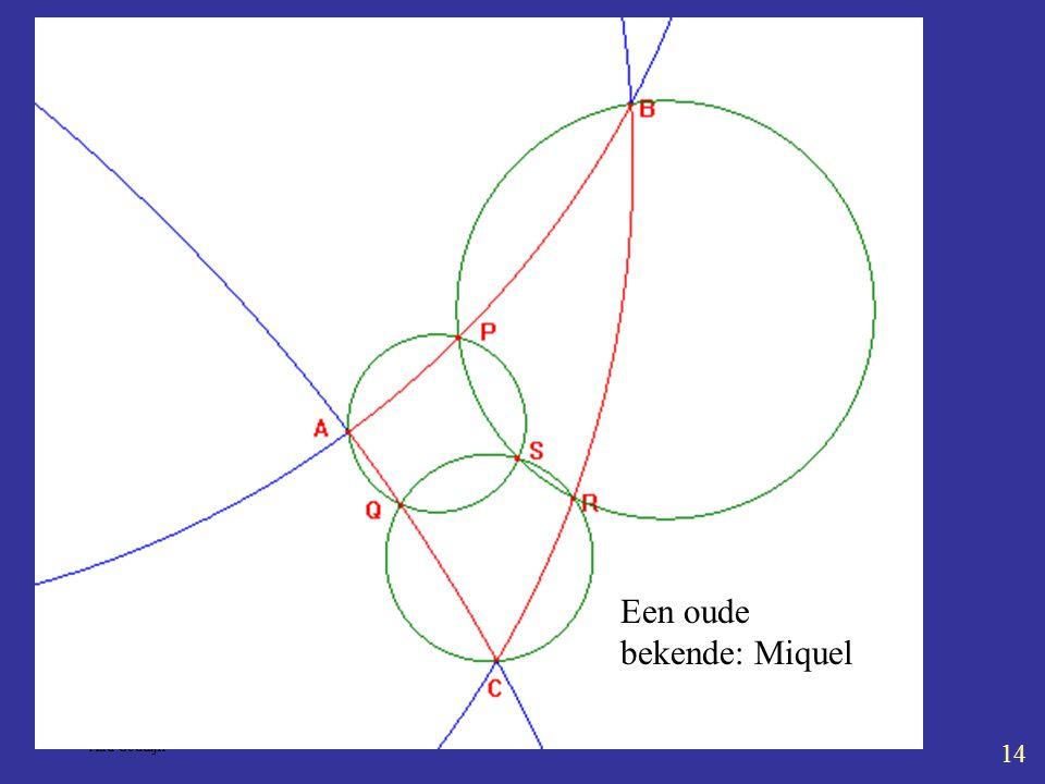 Kaleidoscoop 5-4-2004 Aad Goddijn 14 Sleep W ver weg Een oude bekende: Miquel