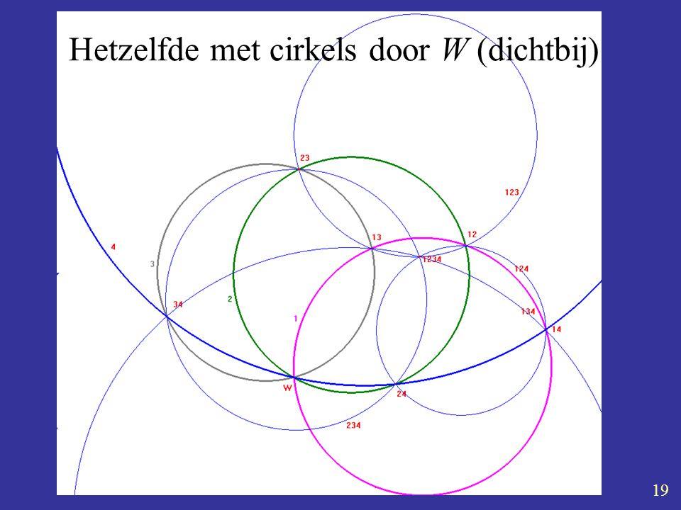 Kaleidoscoop 5-4-2004 Aad Goddijn 19 Hetzelfde met cirkels door W (dichtbij)