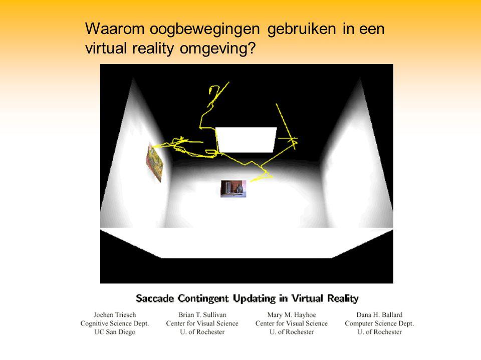Waarom oogbewegingen gebruiken in een virtual reality omgeving?