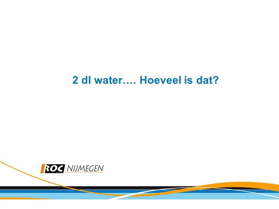 2 dl water…. Hoeveel is dat?