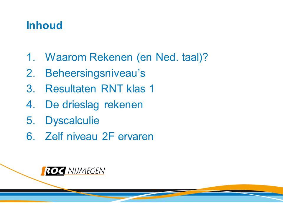 Waarom? Leerlingen zwak in Taal en Rekenen nieuwe wetgeving (commissie Meijerink)