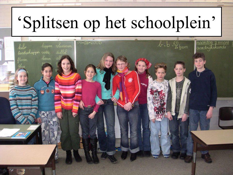 'Splitsen op het schoolplein'