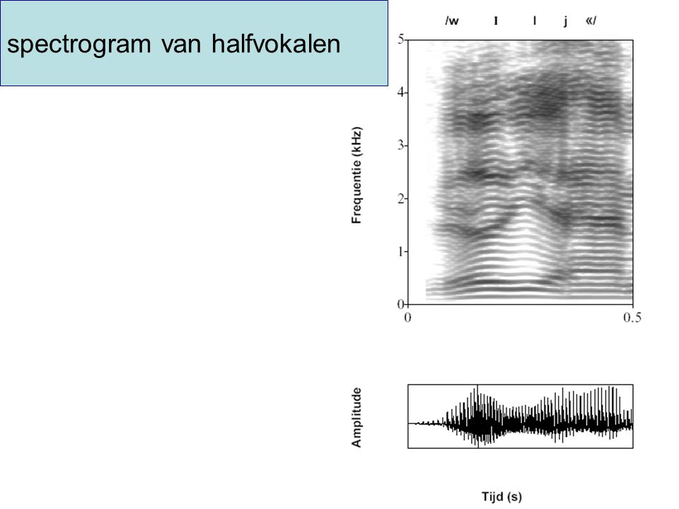spectrogram van halfvokalen