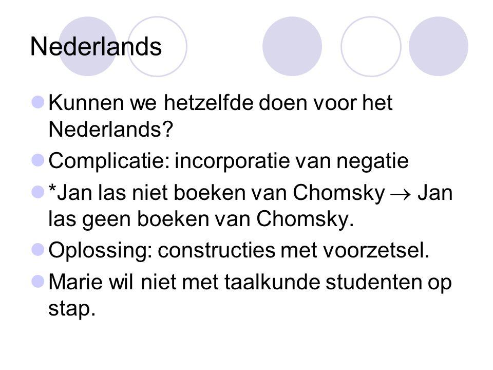 Nederlands Kunnen we hetzelfde doen voor het Nederlands.