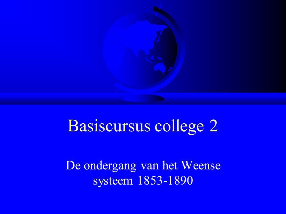 Basiscursus college 2 De ondergang van het Weense systeem 1853-1890