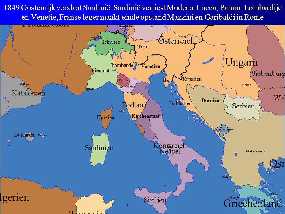 1849 Oostenrijk verslaat Sardinië.