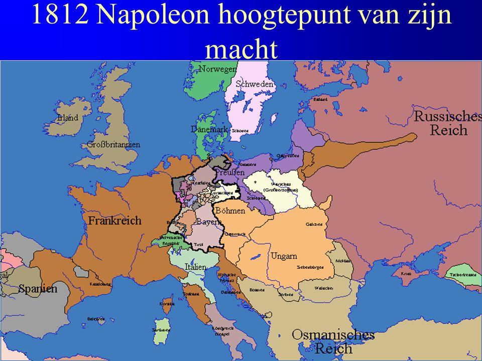 1812 Napoleon hoogtepunt van zijn macht