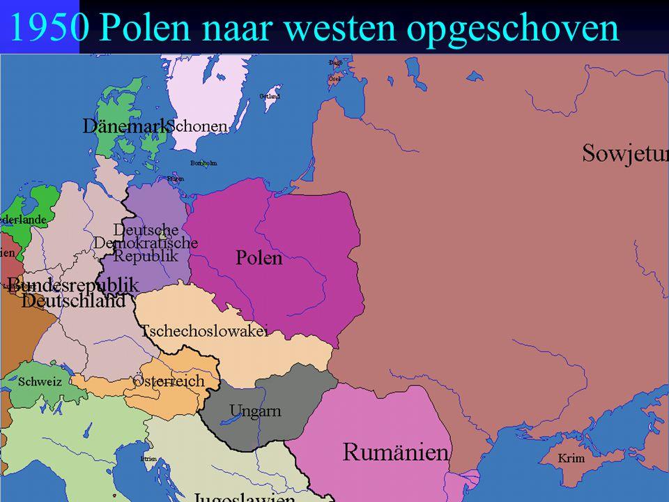 1950 Polen naar westen opgeschoven