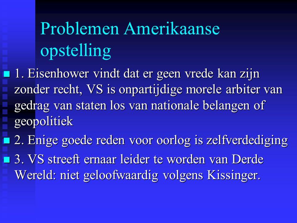 Problemen Amerikaanse opstelling 1.