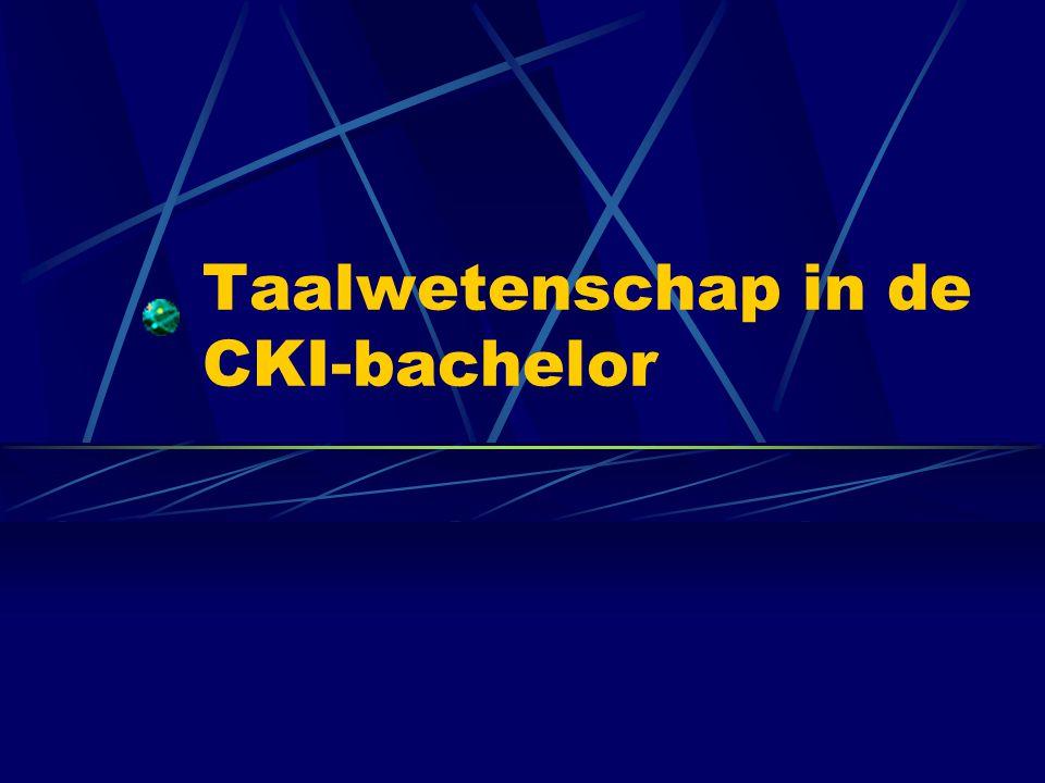 Taalwetenschap in de CKI-bachelor