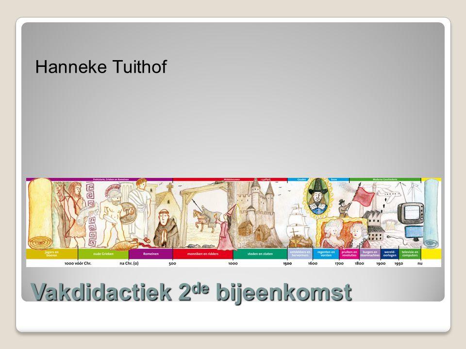 Vakdidactiek 2 de bijeenkomst Hanneke Tuithof