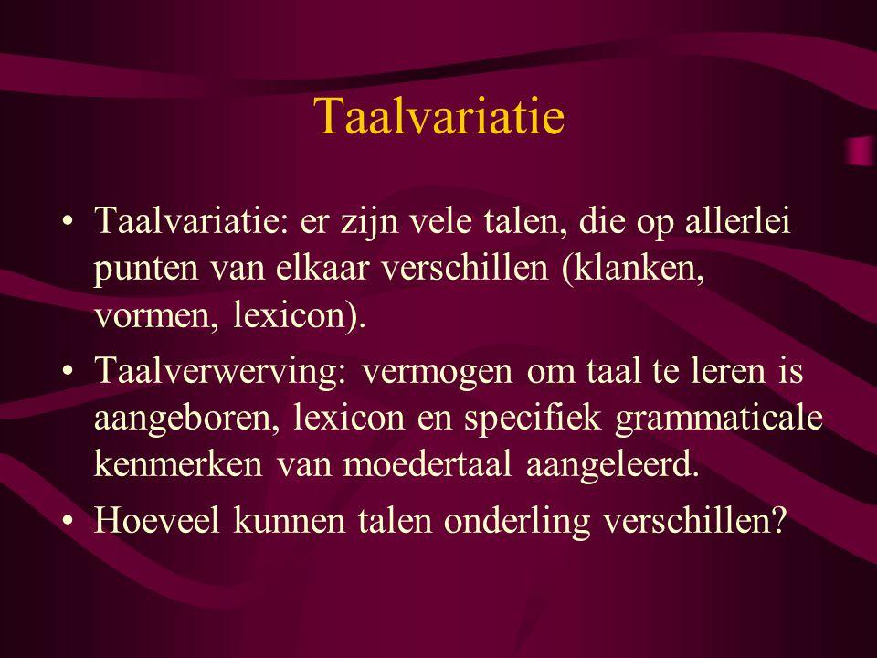 Verschil begrip/productie Volwassenentaal faithfulness > markedness Kindertaal markedness > faithfulness /trein/  trein/tijn/  tijn /trein/  tein/tijn/  tijn