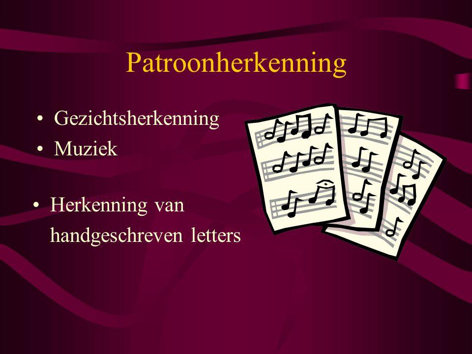 Patroonherkenning Gezichtsherkenning Muziek Herkenning van handgeschreven letters