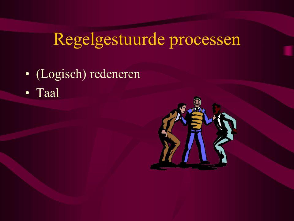 Regelgestuurde processen (Logisch) redeneren Taal