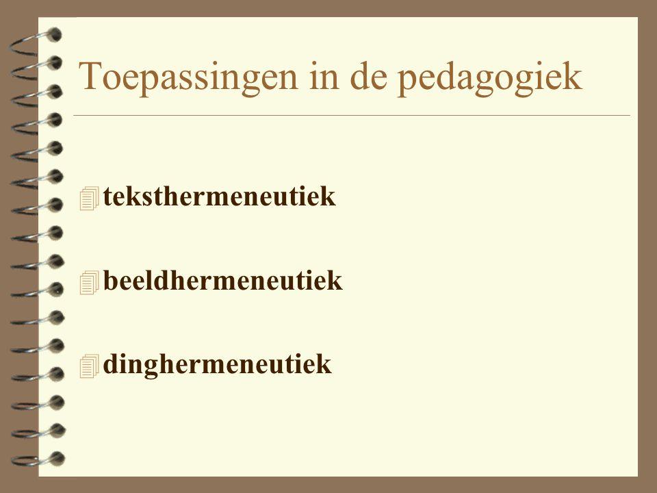 Toepassingen in de pedagogiek 4 kinderpsychotherapie –diagnostiek –therapie