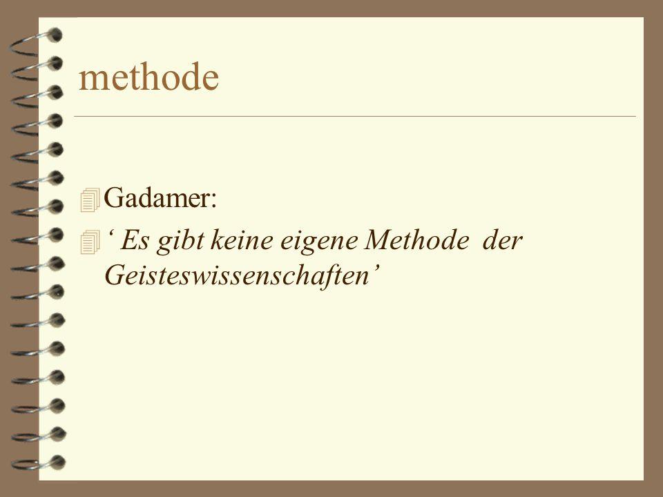 Verstehen als kunst 4 Niet volgens een (vaste) methode 4 maar als een kunst waarvoor een bepaalde geestelijke fijnzinnigheid is vereist ('subtilitas')