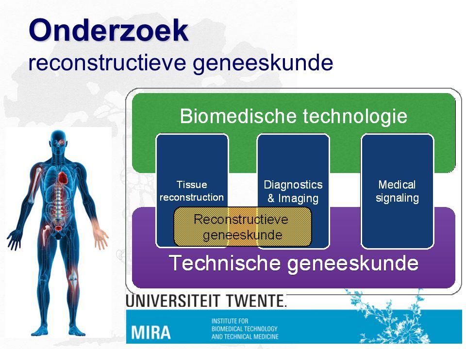 Onderzoek Onderzoek reconstructieve geneeskunde