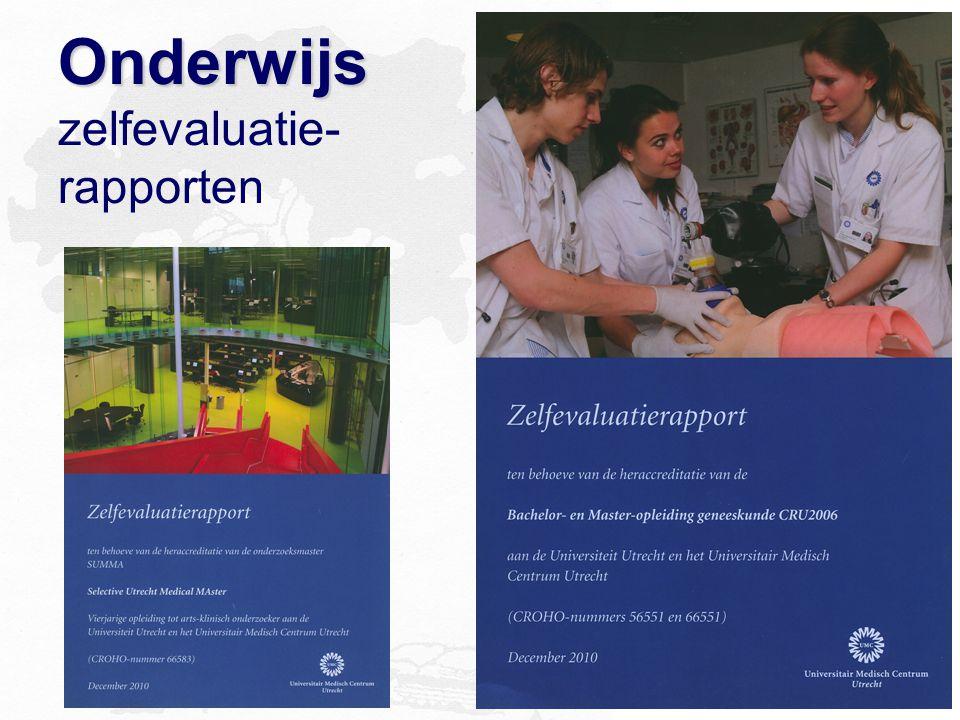 Onderwijs Onderwijs zelfevaluatie- rapporten