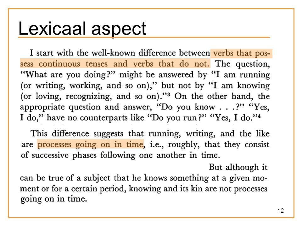 12 Lexicaal aspect