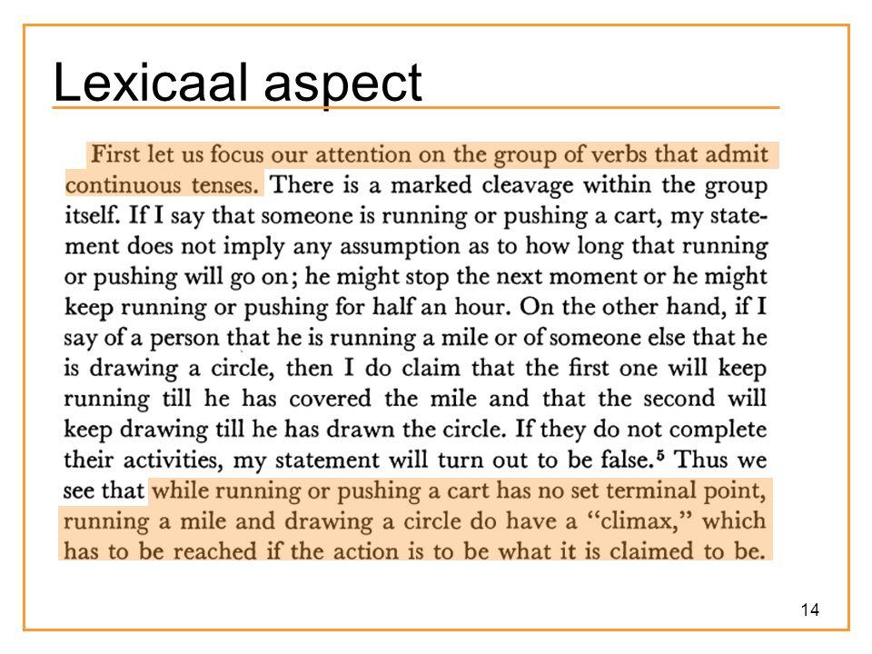 14 Lexicaal aspect