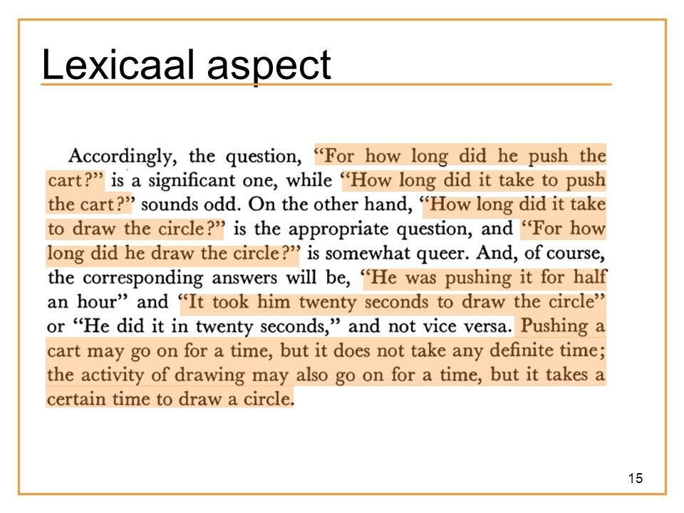 15 Lexicaal aspect
