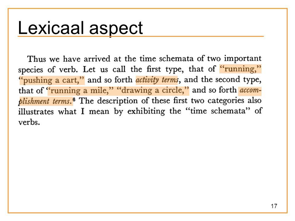 17 Lexicaal aspect