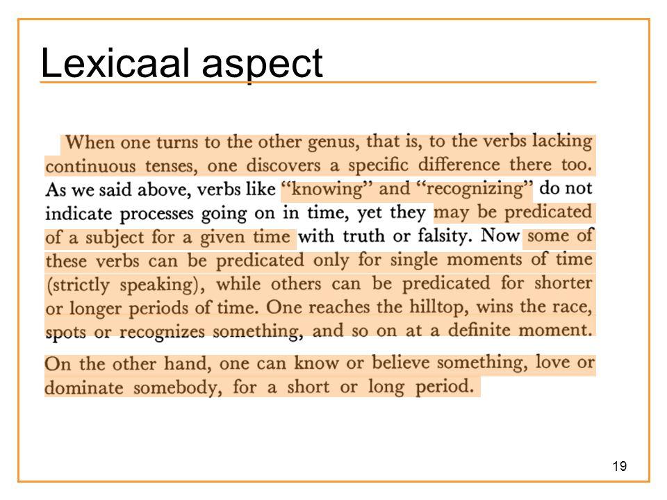 19 Lexicaal aspect