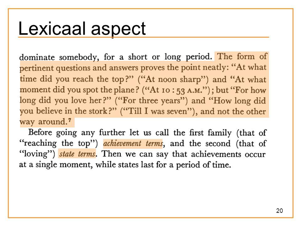 20 Lexicaal aspect