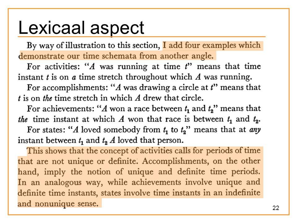 22 Lexicaal aspect
