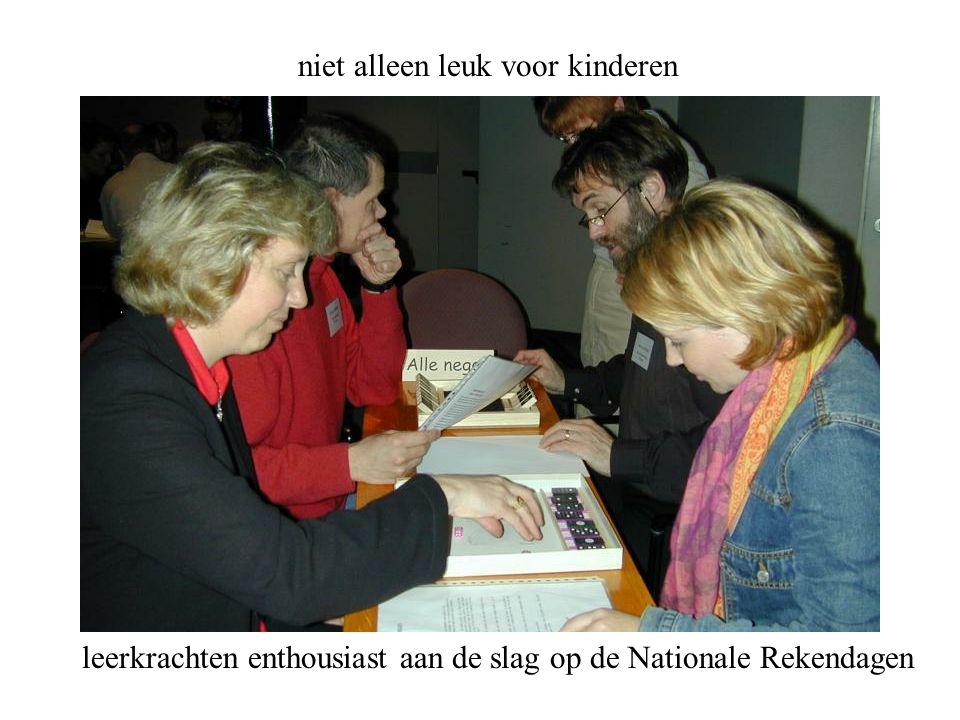 niet alleen leuk voor kinderen leerkrachten enthousiast aan de slag op de Nationale Rekendagen