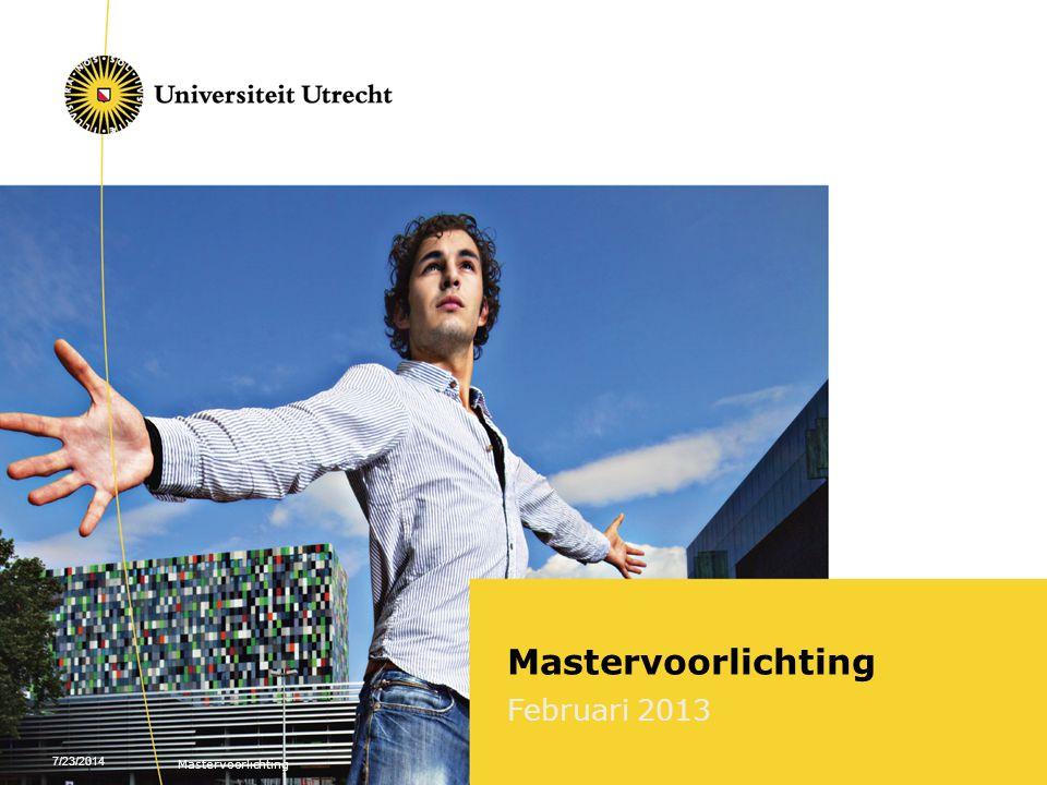 7/23/2014 Mastervoorlichting Februari 2013