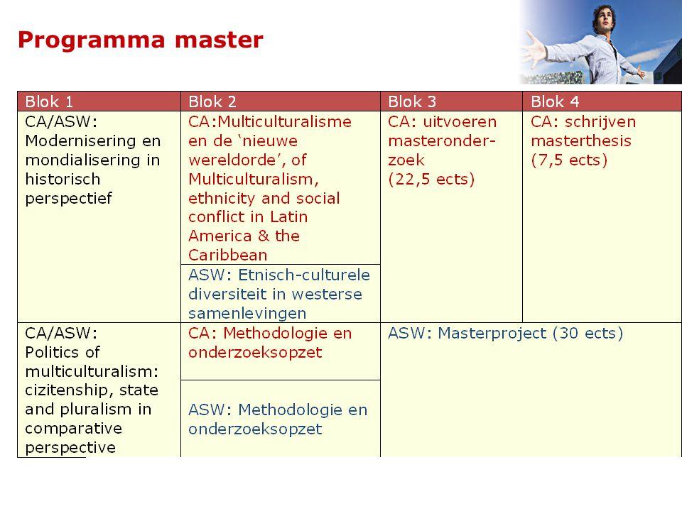 Master - Universiteit Utrecht8 Programma master