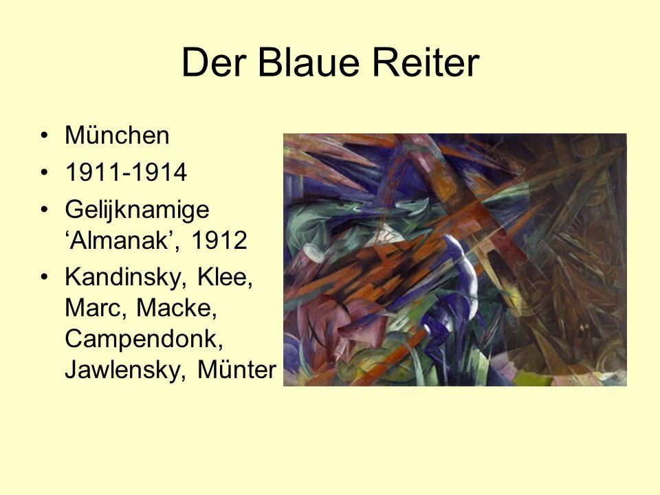 Der Blaue Reiter München 1911-1914 Gelijknamige 'Almanak', 1912 Kandinsky, Klee, Marc, Macke, Campendonk, Jawlensky, Münter