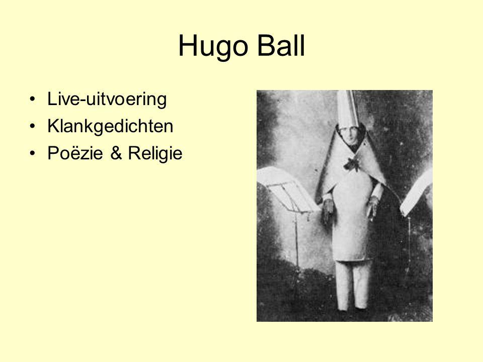Hugo Ball Live-uitvoering Klankgedichten Poëzie & Religie