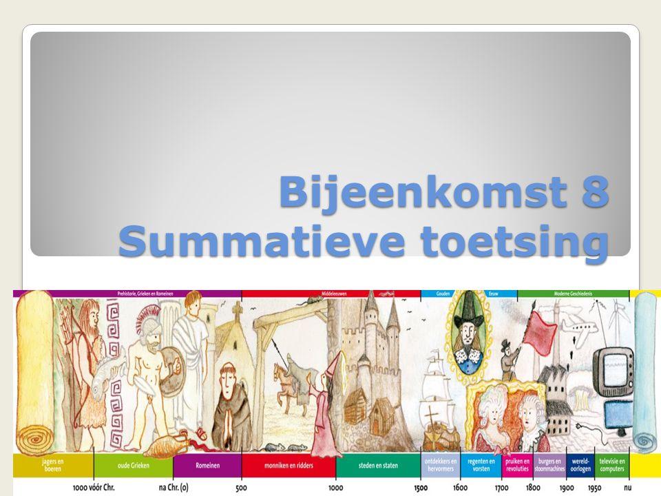 Volgende bijeenkomst 17-12 Begripsvorming Bekijk de website toetsing.hum.uu.nl Lees paragraaf 2.3 begrippen uit Wilschut Bekijk filmpje Verboden te zeggen http://www.leraar24.nl/video/2336 en eventueel WWW http://www.leraar24.nl/video/2349 http://www.leraar24.nl/video/2336 http://www.leraar24.nl/video/2349