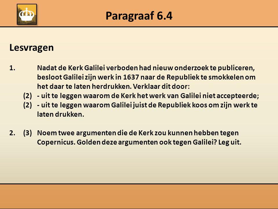 Paragraaf 6.4 Lesvragen 1.